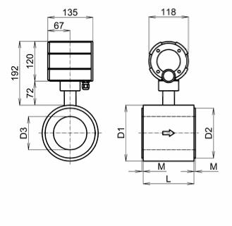FG 4000 - magnetoindukční průtokoměr / kompaktní provedení