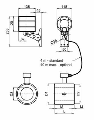 FG 4000 - magnetoindukční průtokoměr / oddělené provedení